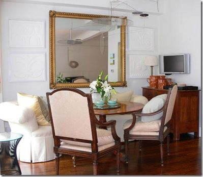 Awesome Sofa Used As Banquette In Dining Room | ... Used A Tufted Curved Banquette