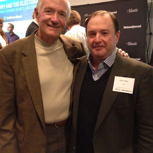 Pat Griffin with Congressman Bill Zeliff.