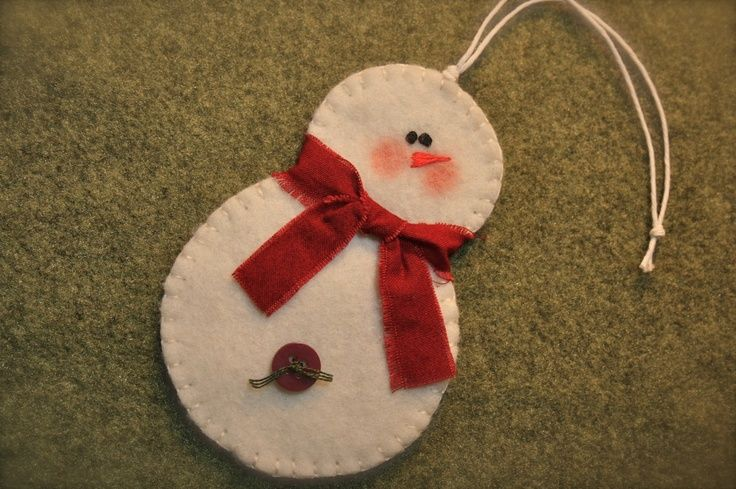 template for snaowman ornaments   Felt Snowman Ornament - no template   crafty things