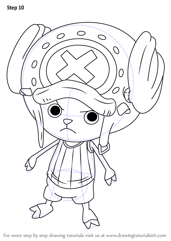 Learn How To Draw Tony Tony Chopper From One Piece One Piece Step By Step Drawing Tutorials One Piece Drawing One Piece Chopper Drawings