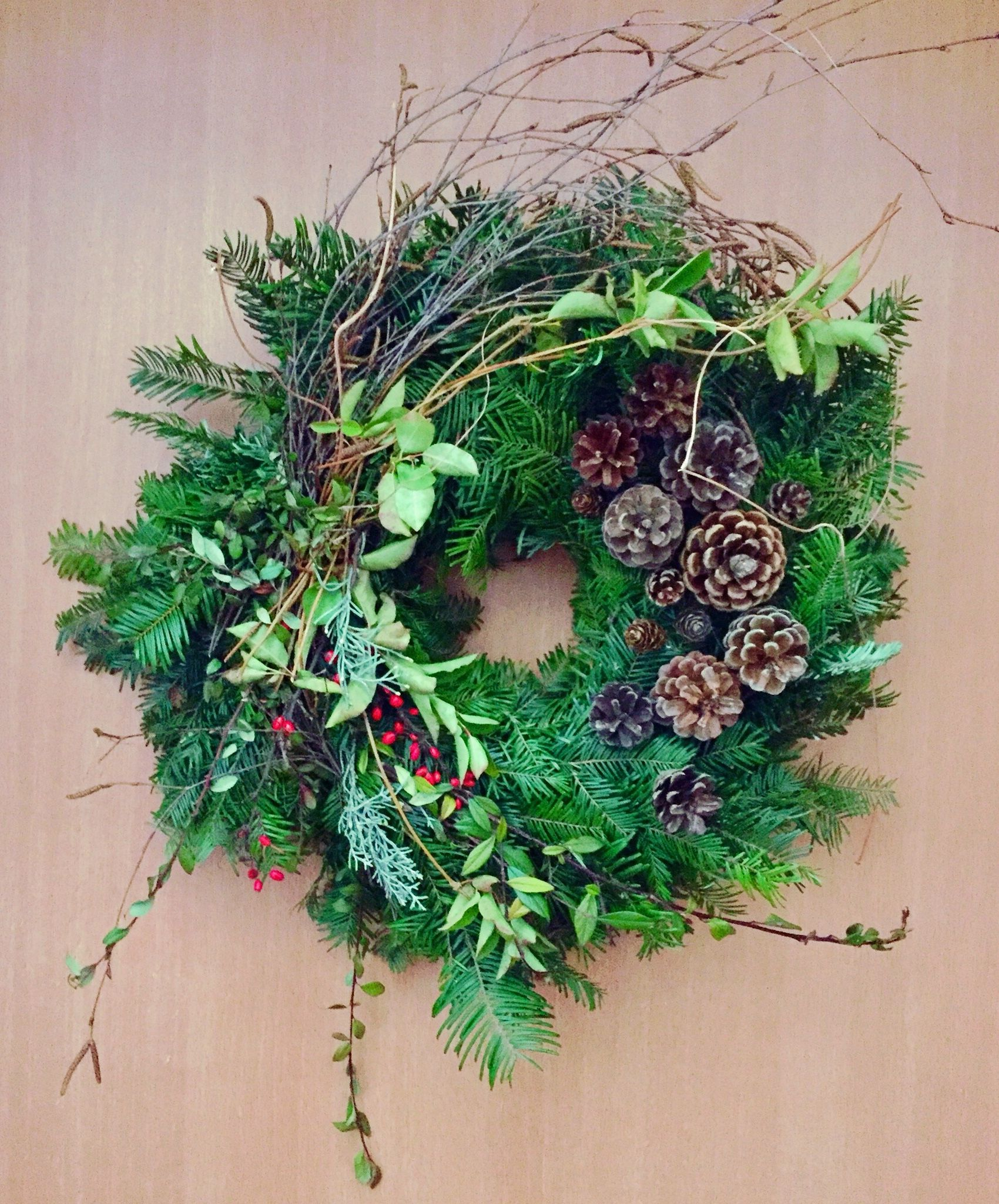 Photo of Natural christmas wreath