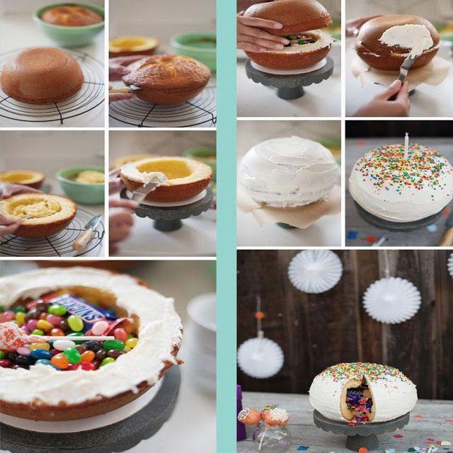 Torta rellena de golosinas lugares para visitar for Tortas decoradas faciles