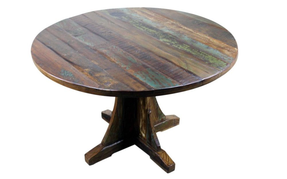 Agreeable Rustic Wood Round Dining Table Wood Dining Table