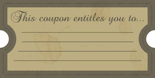 Blank Birthday Coupons To Print | ... printable coupons, perfect for ...