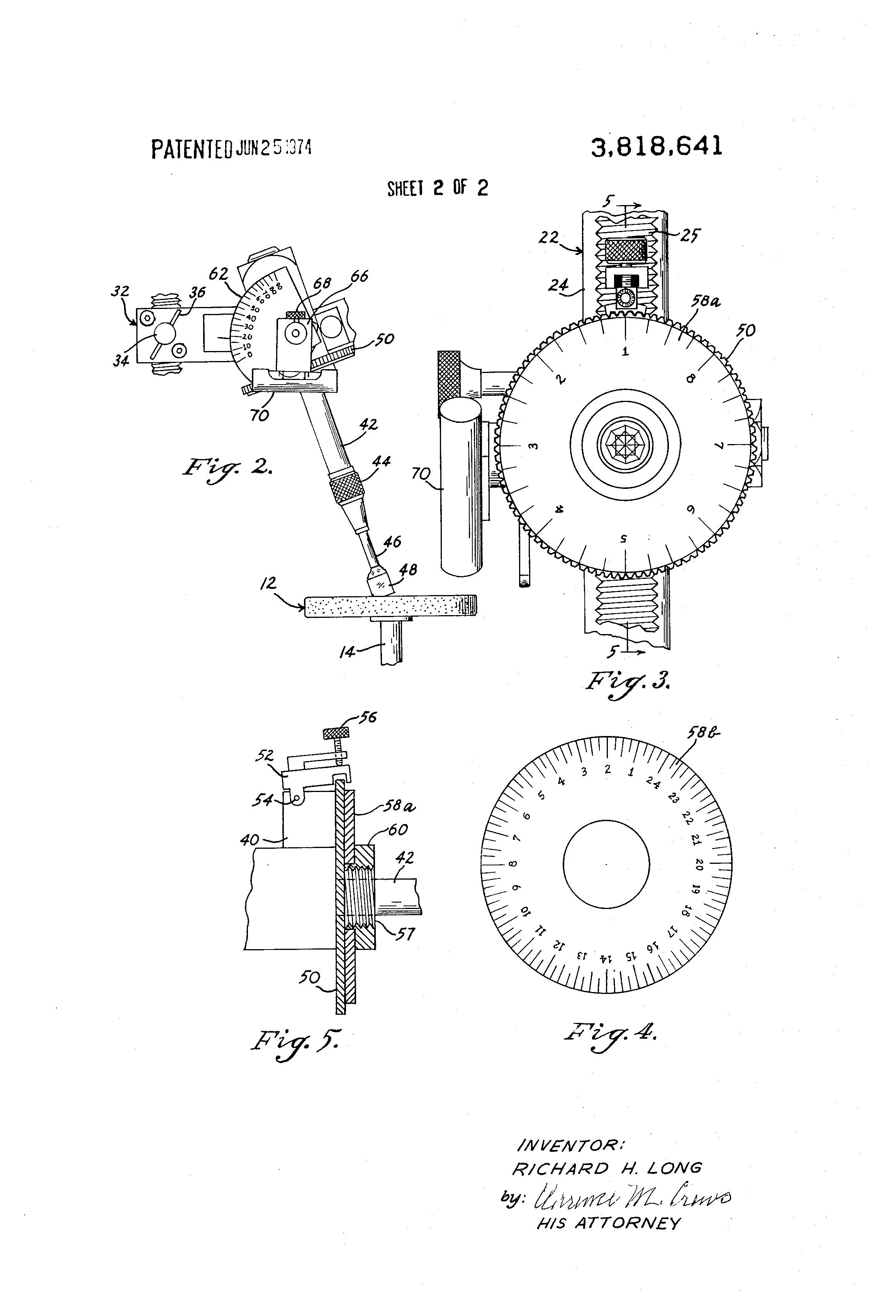Patent Richard Long Slijpmachine Edelstenen