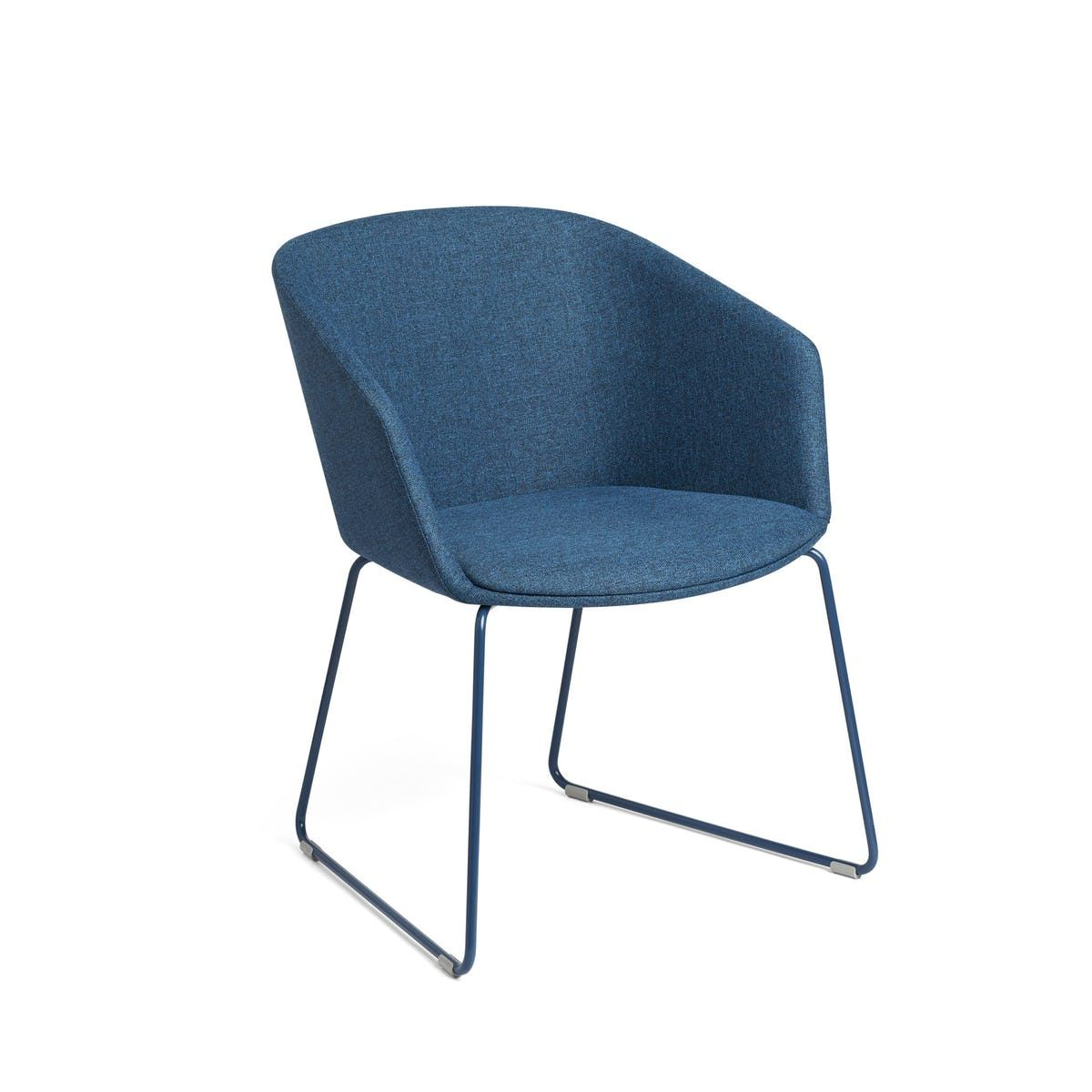 Dark Blue Pitch Sled Chair Office Chairs Office Furniture