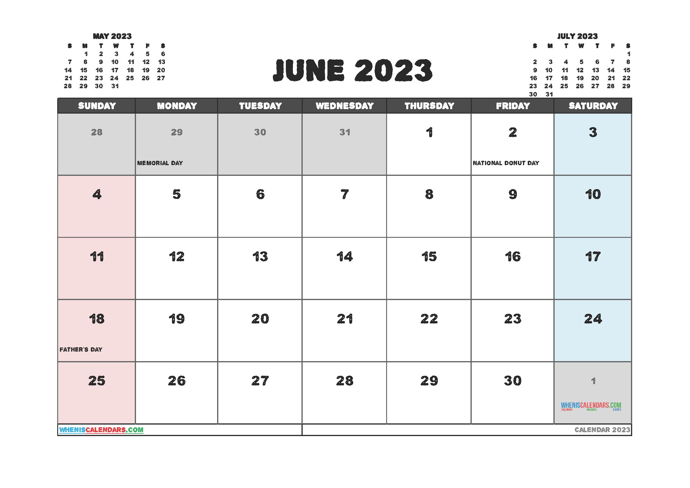 Free Printable June 2023 Calendar 12 Templates In 2020 Calendar Uk 2021 Calendar Calendar Printables