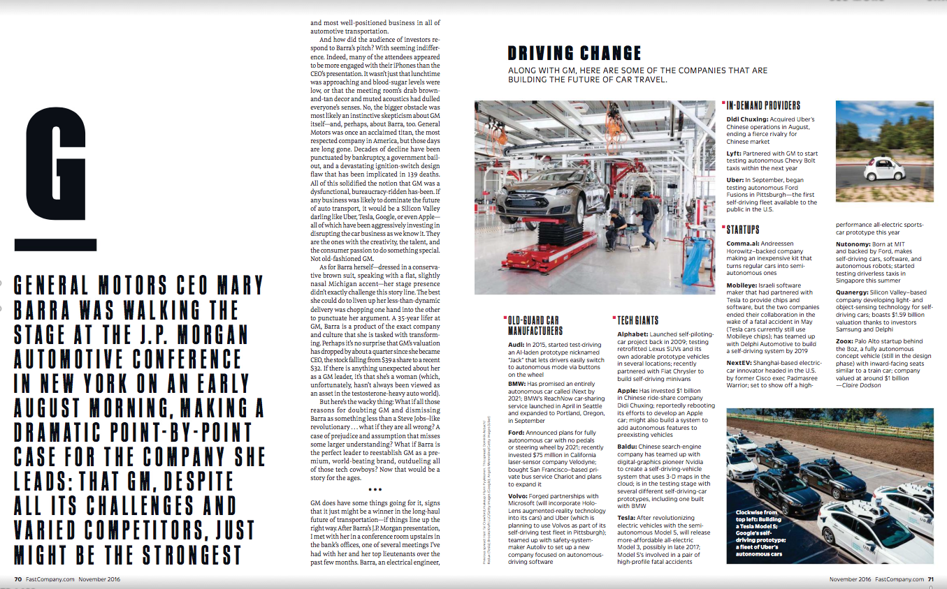 Fast Company Nov 2016 #magazine #spread #design #editorial | Mise ...