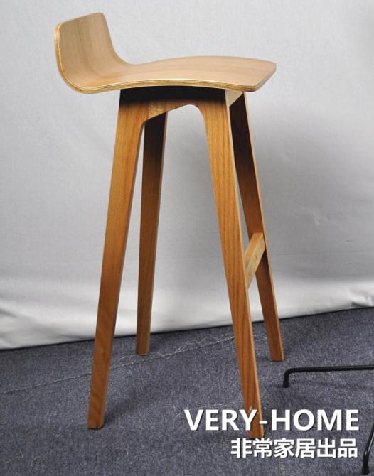 Pleasing Nordic Ikea Solid Wood Bar Stool Modern Minimalist Design Cjindustries Chair Design For Home Cjindustriesco
