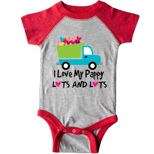 Inktastic I Love My Grandpa Gift For Grandson Infant Creeper Heart Kids Boys By