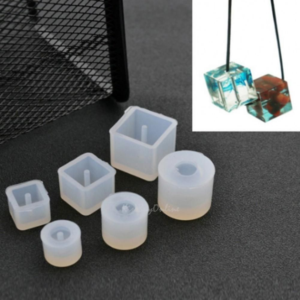 Silicone Transparent Pendant Mold Mould Resin DIY Craft Making Tools Jewel Udww