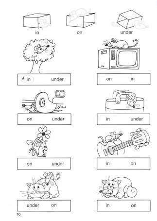 Image result for in on under worksheet | Preescolar | Pinterest | Akt