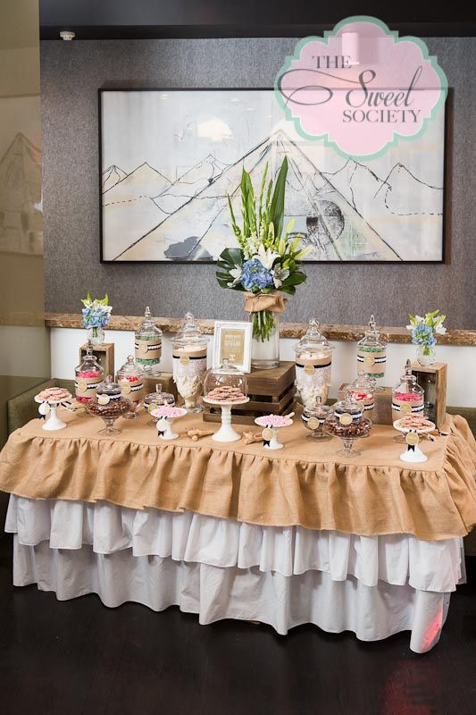 Rustic Lace Wedding Candy Buffet Candy Buffets I Love