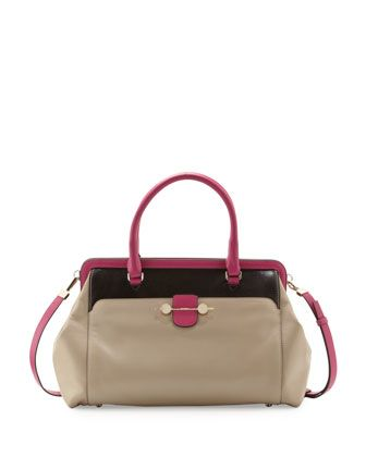 Daphne Oversized Tote Bag Beige Magenta By Jason Wu At Neiman Marcus