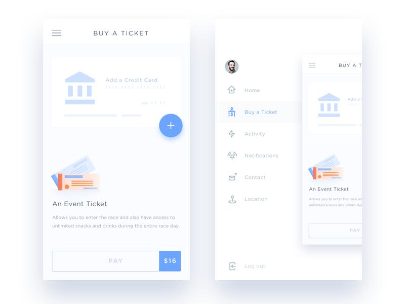 Mobile Menu UI Inspiration — Muzli -Design Inspirati