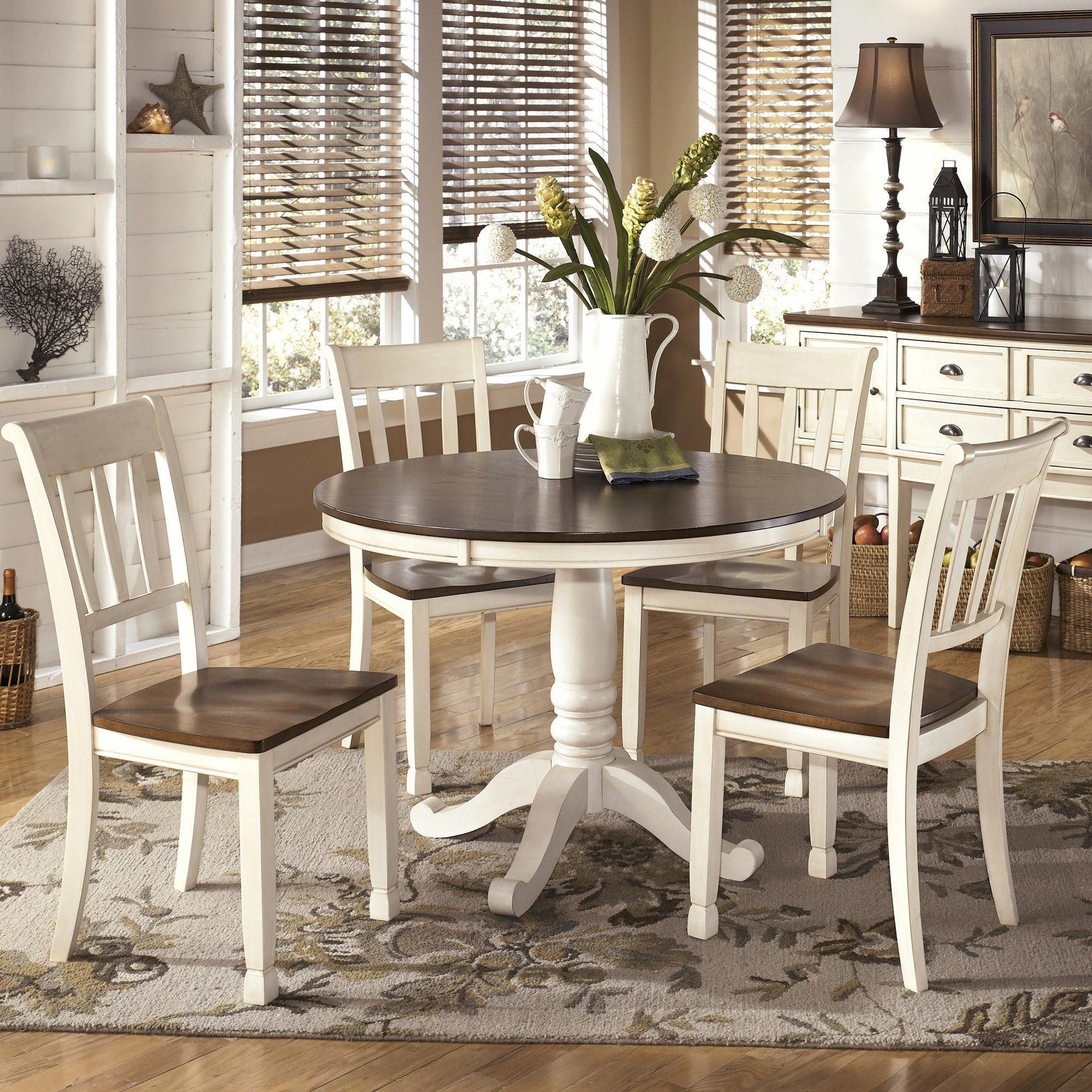 Magellan Dining Table White Round Kitchen Table Dining Table