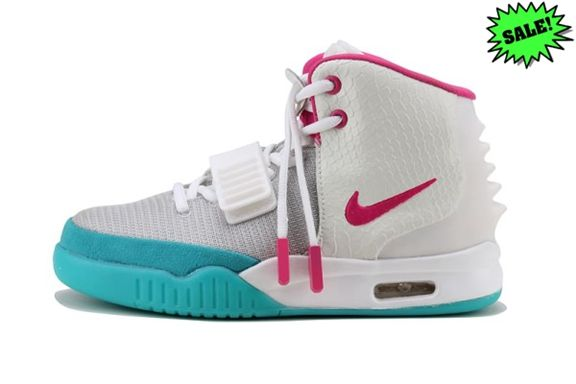 photos officielles c6819 2af6f RCPQ 2014 Chaussure Nike Air Yeezy 2 Femme Gris Rose 345894 ...