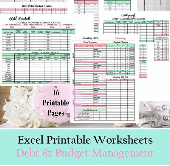Finance Budget planner financial planner debt snowball | Money Ideas ...