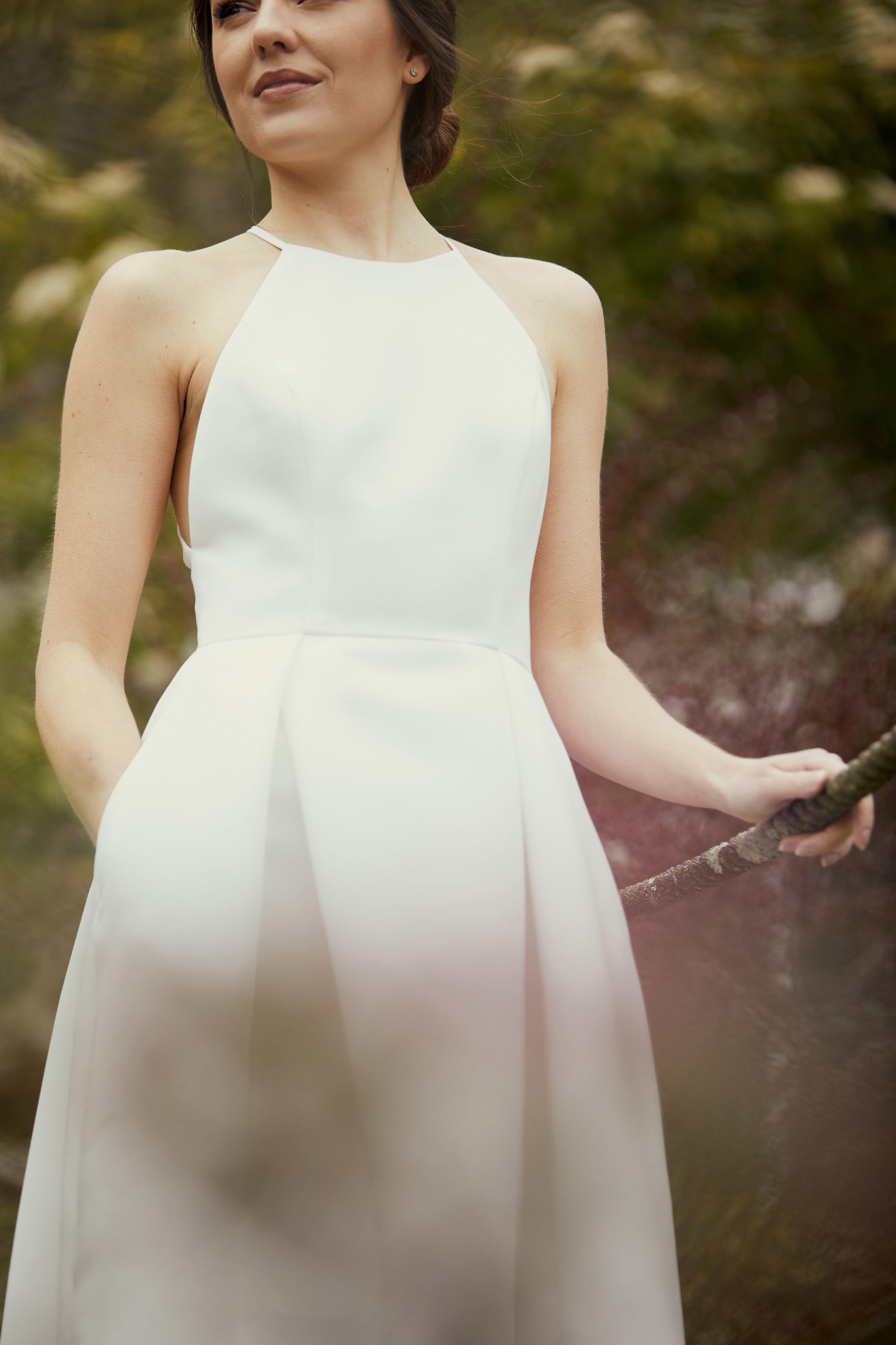 Behind The Scenes Amsale Spring 2021 Amsale Wedding Dress Wedding Dress With Pockets Little White Dresses [ 5376 x 3584 Pixel ]
