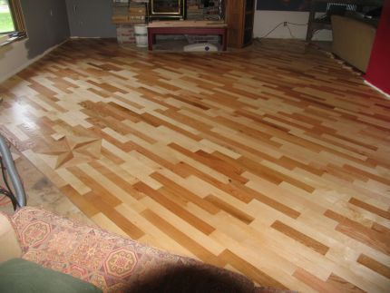 Solid Wood Floor On The Cheapde From Scraps I Want It Darker