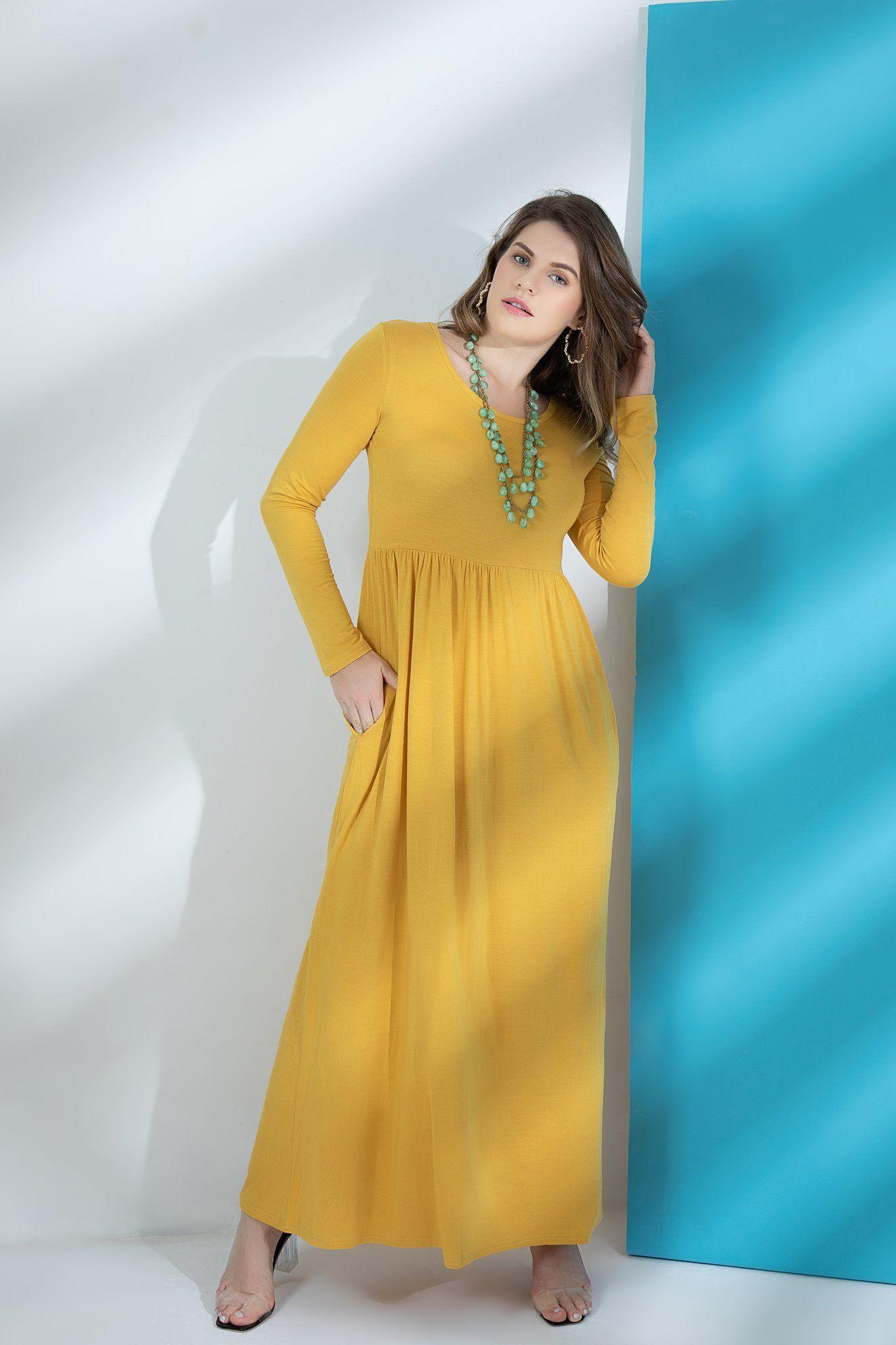 Larace Women Casual Long Sleeve Loose Plain Maxi Pockets Dresses Basic Larace Long Maxi Dress Burgundy Maxi Dress Plain Maxi Dress [ 2048 x 1365 Pixel ]