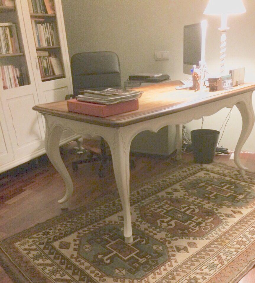 Espectacular mesa restaurada por malana 39 s workshop ideal - Muebles de despacho ...