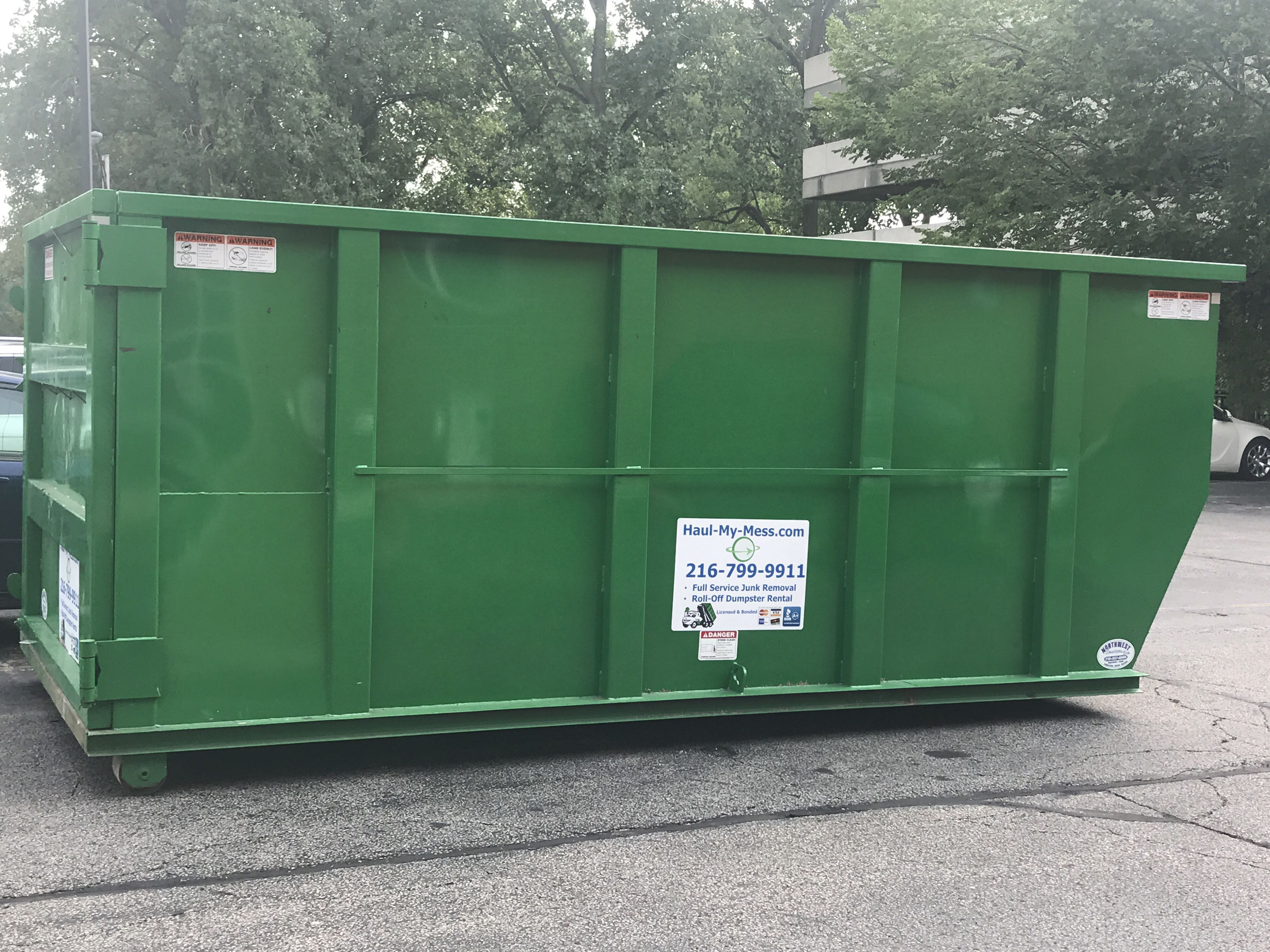 free dumpster rental upgrade