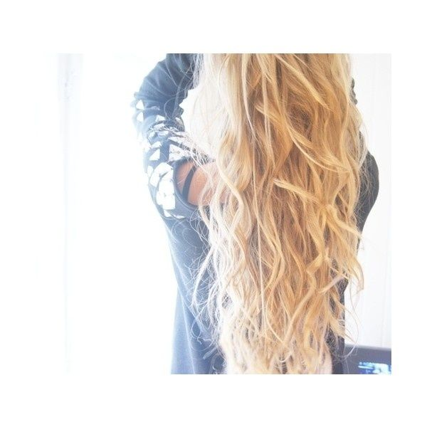 """25 Super-Easy Everyday Hairstyles for Extremely Long Hair via Polyvore """"Separate your hair into 5-10 big sections and flat iron over the braids. Let your hair cool down for a bit then spray hairspray on your braided hair"""" undo each braid and run your fingers (Lightly) through your hair."""
