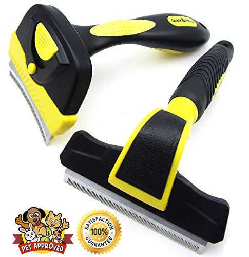 Shedding Brush Tool for Cat or Dog, Long Hair or Short - Quirk and Ferg Tools for Deshedding and Grooming Are Pet Approved and Guaranteed to Reduce Hair in Minutes - Black and Yellow with Stainless Steel Blade (Large) Quirk & Ferg http://www.amazon.com/dp/B00MN0167G/ref=cm_sw_r_pi_dp_eoXAub16KE2EK