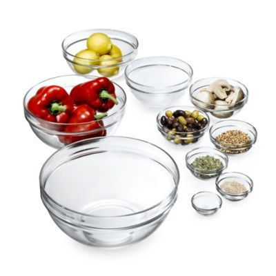 Luminarc 10 Piece Stackable Bowl Set Bloomingdales Products I