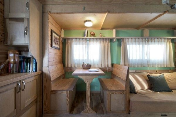 Seven inch thick walls keep the home well insulated and the interior has all the refined finishes you'd expect to find in any contemporary house.  #TinyHouseforUs