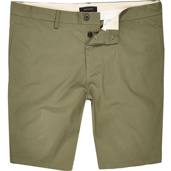 New Sale Online Mens Green green slim fit chino shorts River Island Comfortable For Sale Cheap Ebay Clearance Websites Great Deals kDgI5
