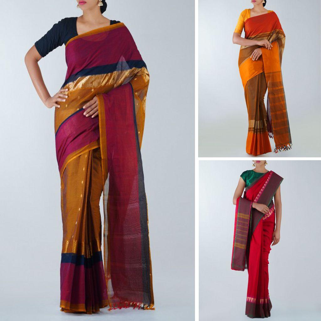 d8793f674f Shop beautiful traditional pure Chettinad Handloom cotton sarees from Tamil  Nadu at Unnati Silks   Exclusive