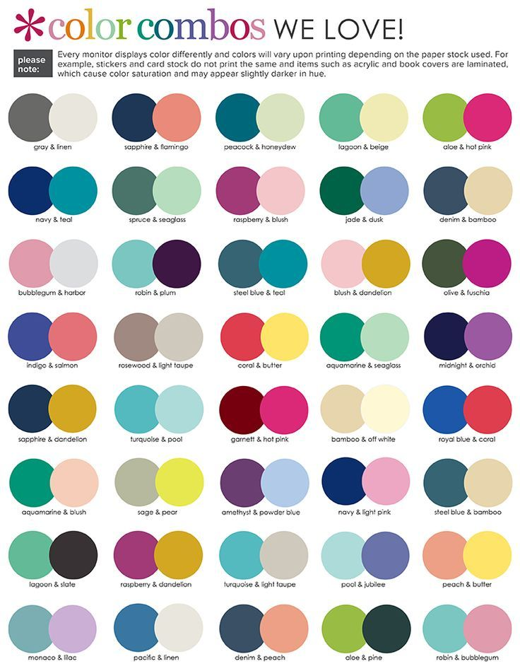 Suggested Color Combinations Erin Condren 2017
