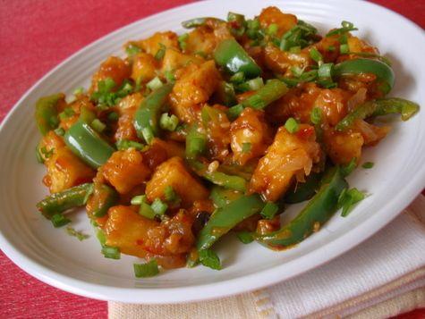 Indo chinese food chilli paneer recipe chilli paneer indian indo chinese food chilli paneer andhra recipespaneer recipesindian forumfinder Images