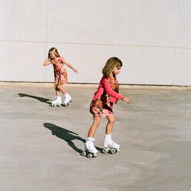 Weekend fun, rollerblading from @nicethingspalomas #nicethingsmini for #SS15 #kidsfashion #kidstyle #kidmodels