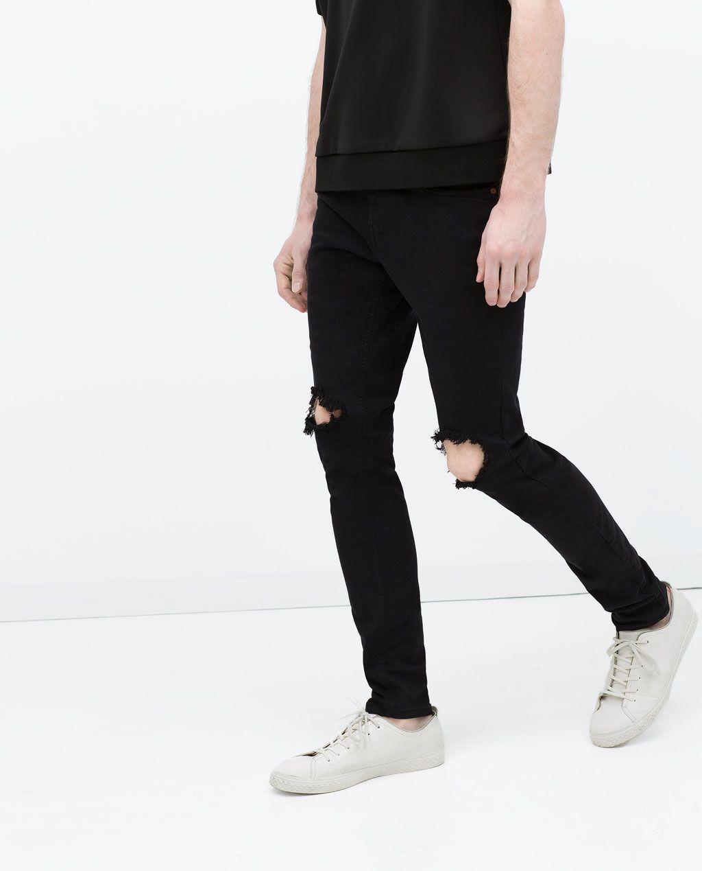 Hombre P A O Pantalón Rotos Zara R pqwdnpx