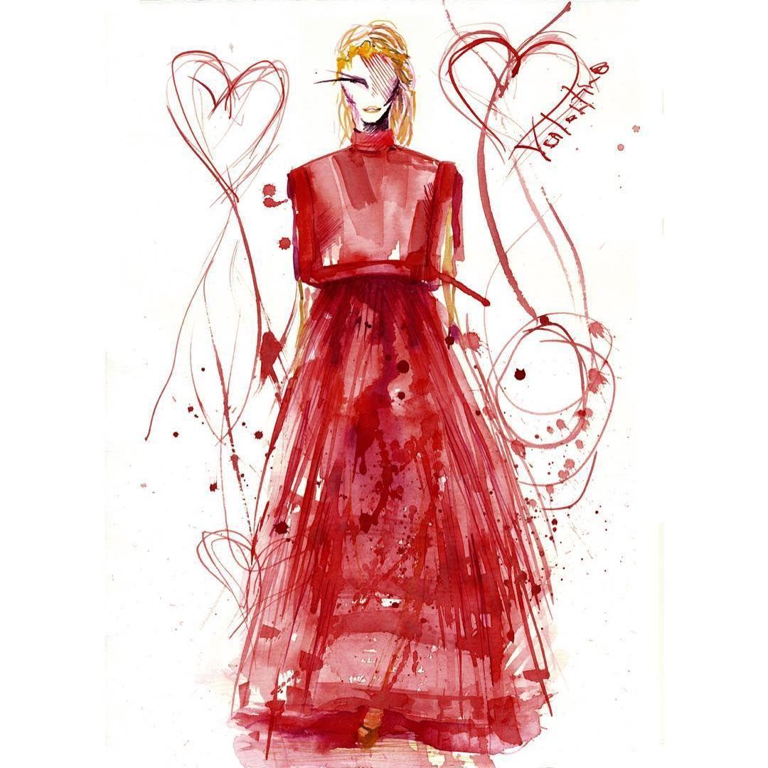 «Fall 2015 Couture @maisonvalentino #fashionblogger #fashiondrawing #fashiondesigner #fashionillustration #fashionsketch #fashiondesign #illustrator…»