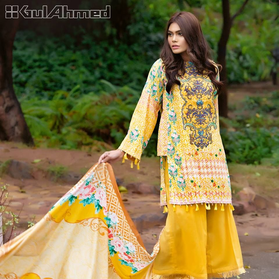 Lawn Embroidered dresses for pakistani girls photos