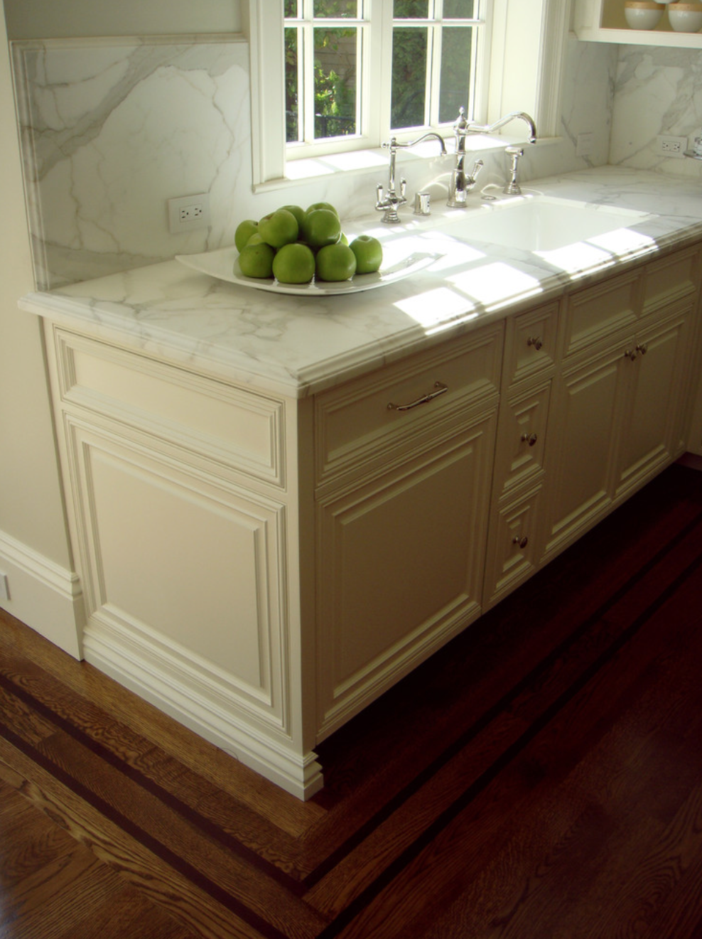 Kitchen Cabinet Detail Paneled Style Double Ogee Edge On