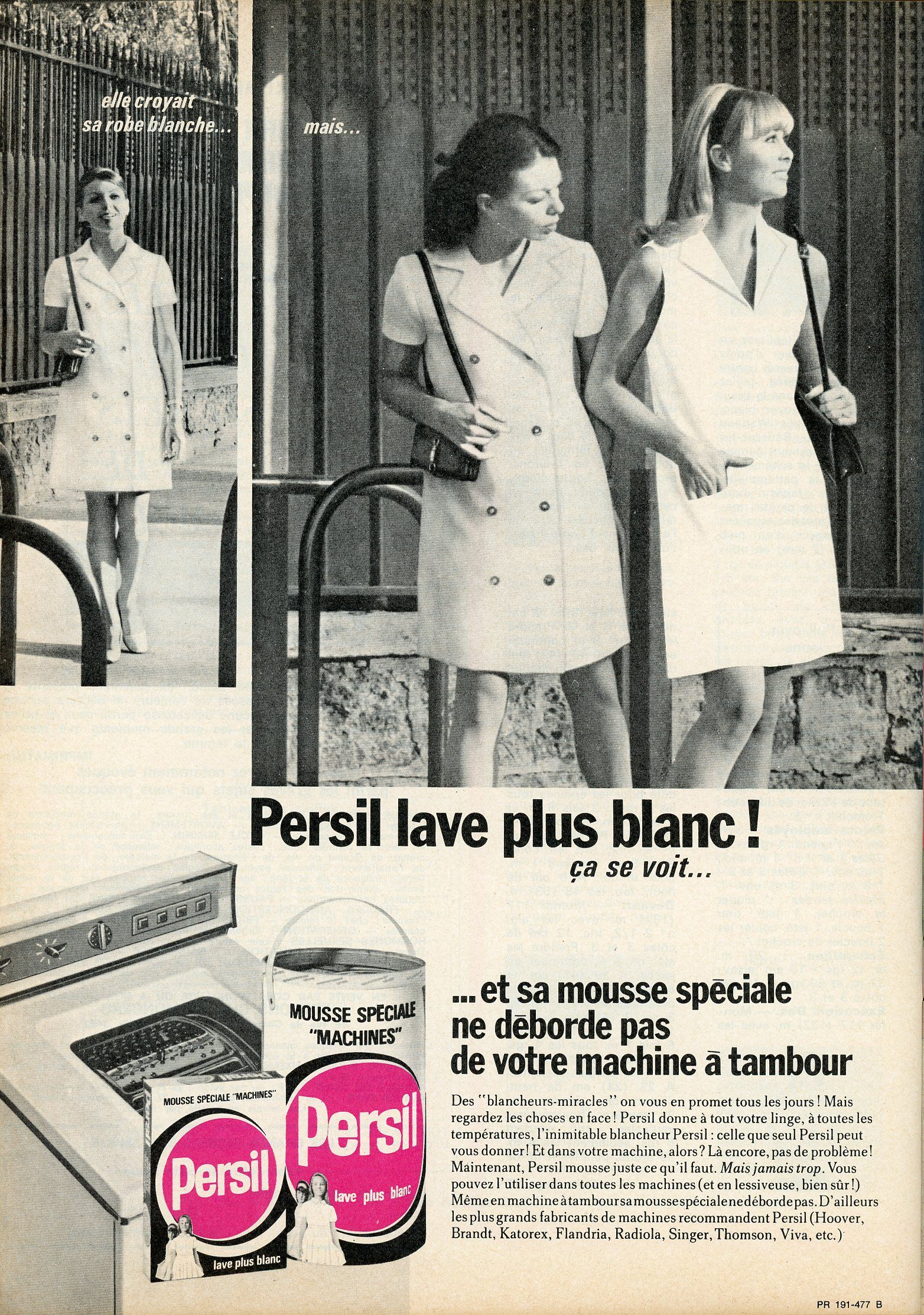 1968 magazine quotmon ouvrage madamequot pub pour la lessive for Kitchen colors with white cabinets with papier cadeau noel