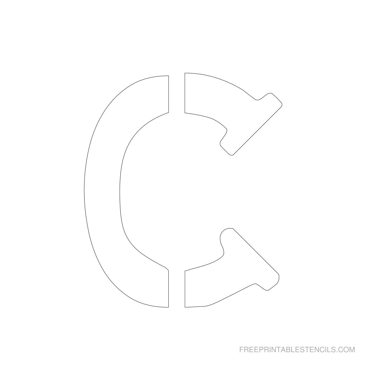 Printable 4 Inch Letter Stencils
