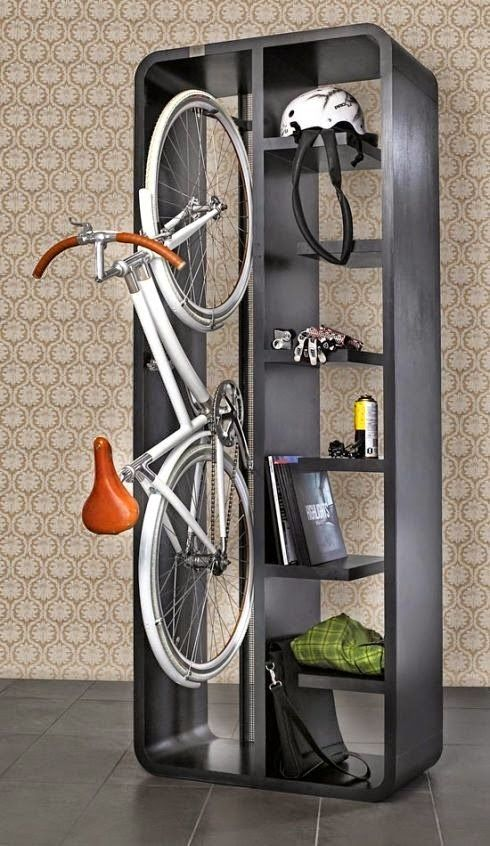 Como guardar tu bicicleta en tu casa o piso ideas casita pinterest bici bicicletas y pisos - Guardar bici en piso pequeno ...
