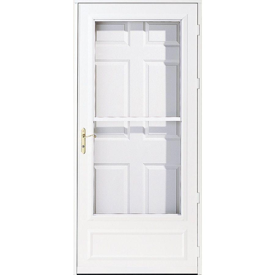 Pella Helena White Mid View Wood Core Storm Door Common 36 In X 81 In Actual 35 75 In X 79 875 In Lowes Com In 2020 Storm Door French Doors Bedroom Sliding Screen Doors