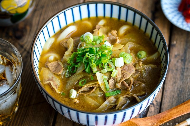 Curry Udon カレーうどん Just One Cookbook Recipe In 2020 Easy Japanese Recipes Curry Udon Curry
