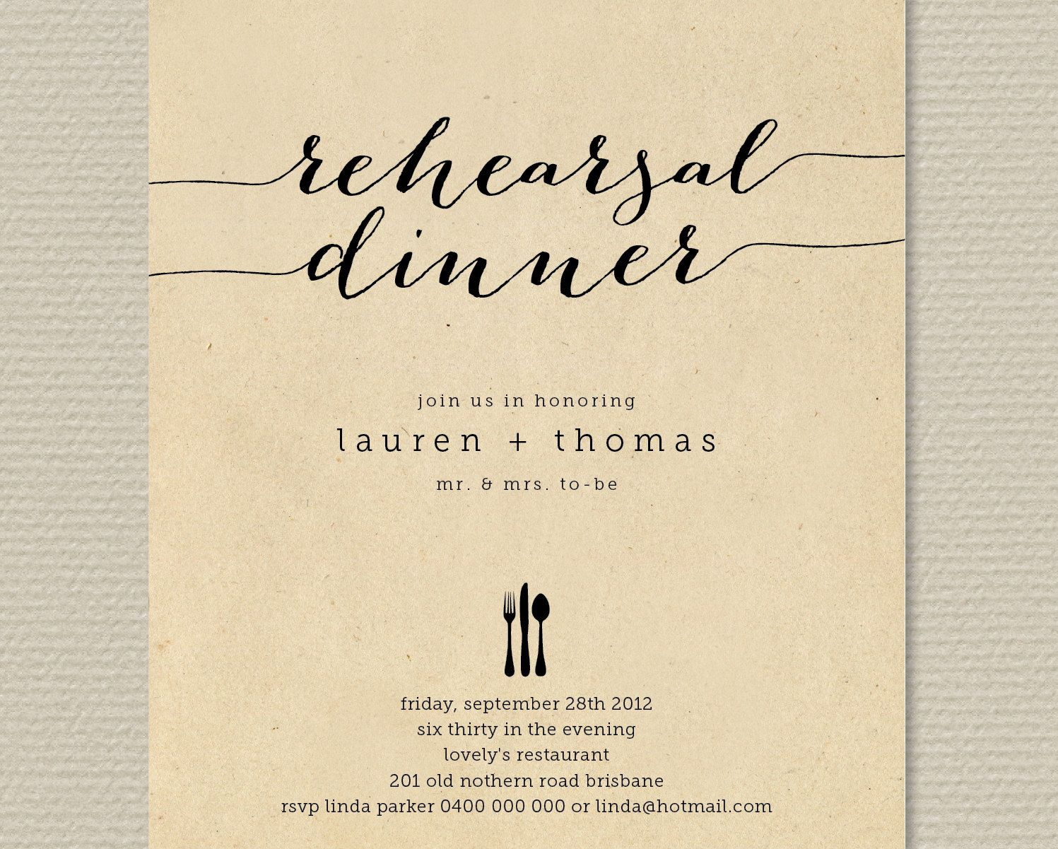 dinner invitation background