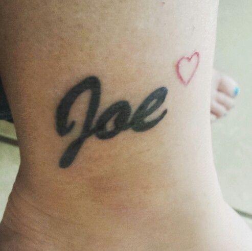 Tattoo Of My Husband S Name Joe Tattoo Designs Tattoo Chart Tattoos