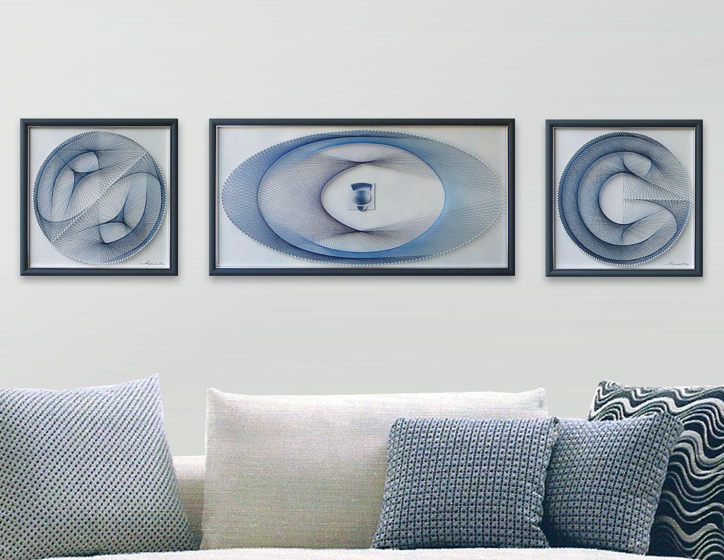 String Art Set   3D Framed Art  Abstract Wall Art   Beautiful Zen Art