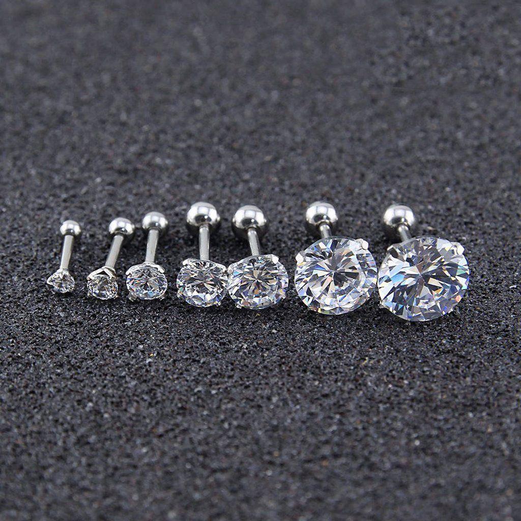Piercing bump popped  Nur Swarovski Circle Crystal Ear Piercing Jewelry G Earring