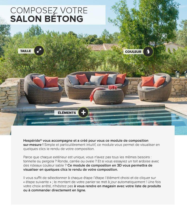 Salon Bétong, Hesperide.com | Idées pour le Jardin | Table ...